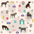 seamless pattern cat icons stock photo © lemony