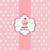 bebé · tarjeta · texto · oficina · papel · sonrisa - foto stock © lemony