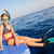 девочку · пляж · морем · готовый · Подводное · плавание · девушки - Сток-фото © len44ik