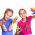 gelukkig · kinderen · spelen · verf · meisje · handen · kinderen - stockfoto © len44ik