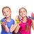 happy girls with hands in paint stock photo © len44ik