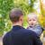 filho · ombro · menino · sessão · pai · cara - foto stock © len44ik