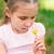 szőke · gyerek · lány · fúj · pitypang · virág - stock fotó © len44ik