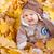 aranyos · baba · őszi · levelek · első · ősz · gyerekek - stock fotó © Len44ik