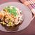 kínai · étel · saláta · gomba · fehér · tányér · levél - stock fotó © len44ik