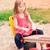 gyönyörű · kislány · szabadtér · játszótér · nyáridő · iskola - stock fotó © len44ik
