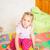 happy little girl playing with blocks stock photo © len44ik