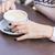 güzel · barista · süt · fincan · kahve - stok fotoğraf © len44ik