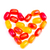 colorful jelly candy love note in shape of heart stock photo © len44ik