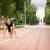 sportive man in starting position prepared to run stock photo © len44ik