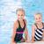 dois · bonitinho · meninas · piscina · posando · bebê - foto stock © Len44ik