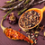 various spices and herbs in a wooden spoon stock photo © len44ik