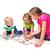 gelukkig · kinderen · geïsoleerd · groep - stockfoto © len44ik