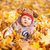 Cute baby in autumn leaves. stock photo © Len44ik