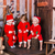 happy little babys in santas costumes near xmas tree stock photo © len44ik