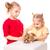 mutlu · çocuklar · easter · bunny · renkli · yumurta - stok fotoğraf © len44ik