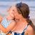mãe · filha · família · feliz · mulher · céu · água - foto stock © Len44ik