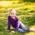 blond · kid · meisje · paardebloem · bloem - stockfoto © len44ik