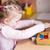 kislány · játszik · kockák · boldog · gyermek · szórakozás - stock fotó © len44ik