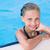 bonitinho · little · girl · piscina · aprendizagem · bebê · cara - foto stock © Len44ik