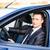 jóképű · fiatal · üzletember · új · autó · ül · üzlet - stock fotó © len44ik