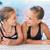 meninas · crianças · piscina · dois · piscina - foto stock © len44ik