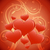 valentines day greeting card with heart shapes stock photo © lenapix
