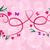 розовый · цветочный · карт · два · сердцах · цветок - Сток-фото © lenapix