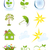 weather and ecology symbols isolated on white background vector stock photo © lenapix