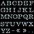 steel alphabet vector template isolated on black background stock photo © lenapix
