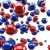 red and blue glossy spheres background stock photo © lenapix