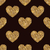 seamless heart shapes made of gold tinsel stock photo © lenapix