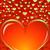 ünneplés · kártya · szív · alakú · boldog · valentin · nap - stock fotó © lenapix