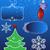 christmas symbols vector set isolated on blue background stock photo © lenapix
