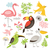 grappig · vogels · icon · collectie · kunst · vogel - stockfoto © lenlis