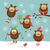 vecteur · ensemble · hiboux · enfants · cadre · oiseau - photo stock © lenlis