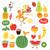 健康的な食事 · 食品 · イラスト · コレクション · 健康 · チーズ - ストックフォト © lenlis