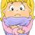 печально · девочку · плачу · иллюстрация · ребенка · фон - Сток-фото © lenm