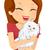 cat hug stock photo © lenm