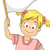 little kid girl waving a blank white flag stock photo © lenm