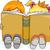 fiú · lány · olvas · mesekönyv · illusztráció · könyv - stock fotó © lenm