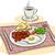 традиционный · английский · завтрак · иллюстрация · жареный · яйца - Сток-фото © lenm