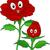 piros · rózsa · kabala · illusztráció · kabalák · rügy · tele - stock fotó © lenm
