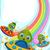 jelenet · színes · szivárvány · illusztráció · tájkép · kert - stock fotó © lenm