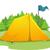 vetor · camping · tenda · isolado · branco · sapatos - foto stock © lenm