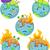 dünya · gezegeni · simgeler · grafik · elemanları · web · mavi - stok fotoğraf © lenm