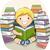 студент · книгах · кавказский · устал - Сток-фото © lenm