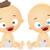 recém-nascido · bebês · adormecido · menina · menino · menina - foto stock © lenm