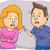 любителей · ссориться · иллюстрация · пару · женщину - Сток-фото © lenm