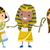 comunicação · vara · pessoas · conjunto · três · desenho · animado - foto stock © lenm